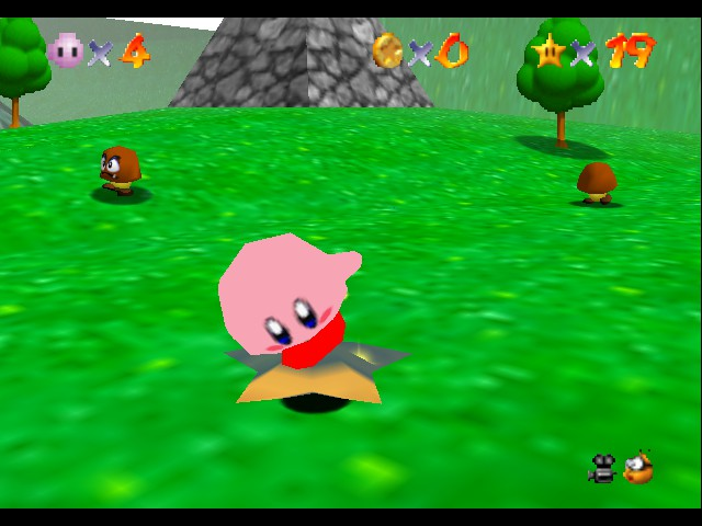 Super Mario 64 - Kirby Edition - ITS NO YELLOW - User Screenshot